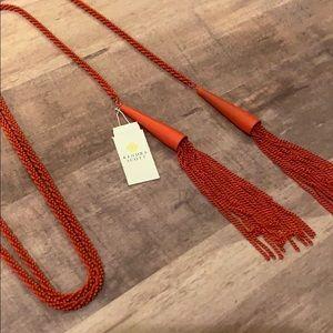 NWT Kendra Scott red tassel necklace